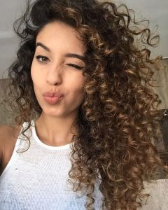 sexy side swept curls