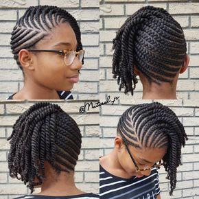 Short braided updo