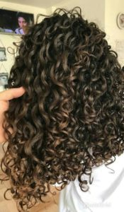 tight thick curls