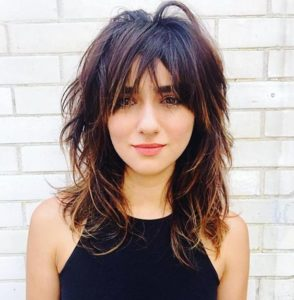 Layered Cut with Bangs and Highlights