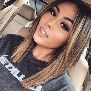 Blunt Cut with Grown Out Bangs