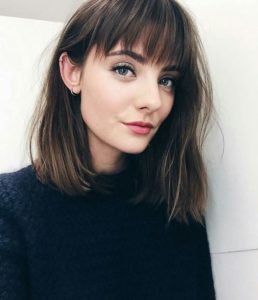 Relaxed Lob with Bangs