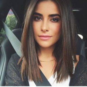 Sleek and Straight Lob with Long Layers