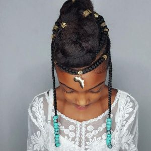 Fulani inspired hair