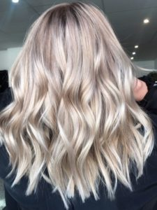 Bright Champagne Bronde Hair