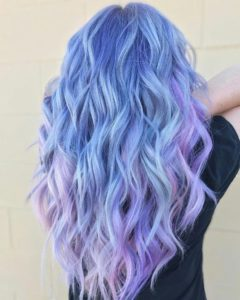 Periwinkle to Lavender Ombre