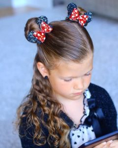 Minnie Mouse Inspired Space Buns