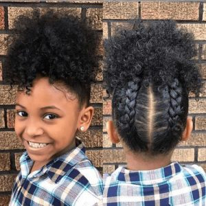 braided pineapple hair
