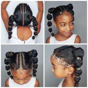 double bubble ponytail