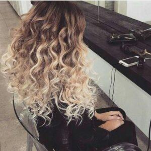 messy curls perm