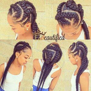 stylish twisted cornrow braids