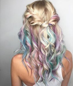 Blonde and Unicorn Hair highlights