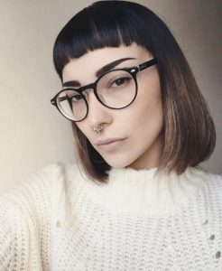 Super Edgy Bangs and Sleek Bob