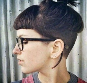 Undercut Style with Sharp Short Bangs