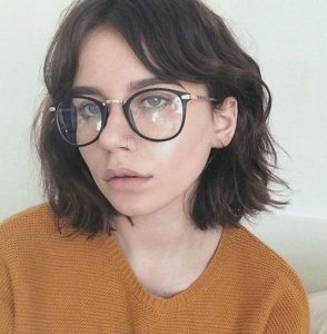 Wavy Bob with Parted Bangs