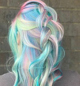 Bright Blue Base With Rainbow Highlights