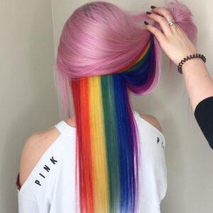 Bubblegum Pink with Peek-A-Boo Rainbow
