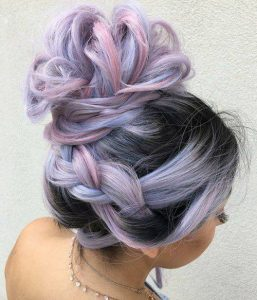 Pastel Purple and Pink with Dark Roots