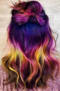 Purple Tones with Yellow Highlights