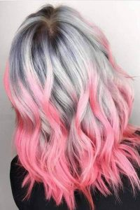 Silver to Bubblegum Pink Ombre