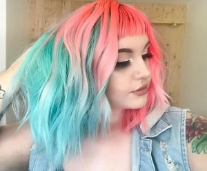 Baby Blue and Baby Pink Unicorn Hair