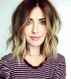 Centre-Parted Bob with Honey Blonde Ombre