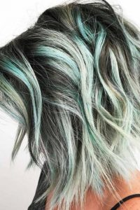 Big Beachy Waves with Mint Green Highlights