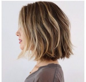 Chin-Length Bob with Beachy Texture