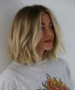 Beach Blond Bob with Messy Waves