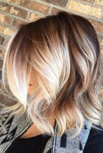 Sunny Blonde Balayage and Messy Waves