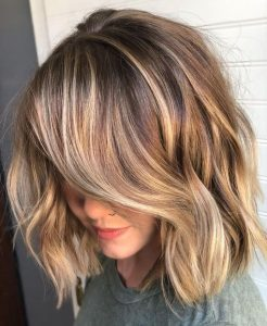 Gorgeous Brown and Golden Blonde Bob