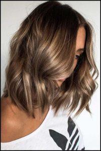 milk Chocolate Hair with Soft Blonde Balayage