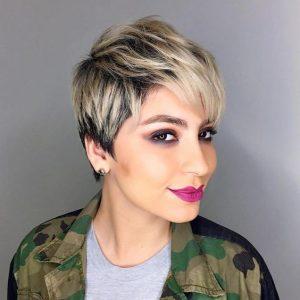 Choppy Pixie Cut with Ash Blonde Balayage
