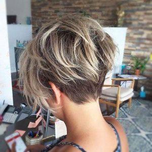 Undercut Pixie Cut with Blonde Balayage