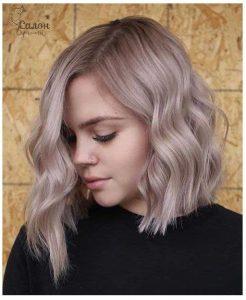 Ash Blonde Balayage and Dark Roots