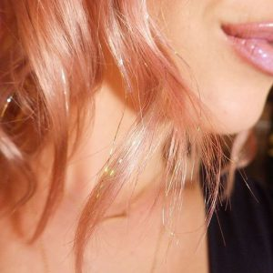 Blorange Hair with Rosy Gold Extensions