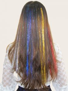Chunky Tinsel Hair Extensions in Multiple Colours
