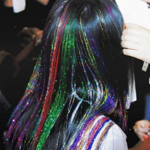 Over-The-Top Rainbow Tinsel Extensions