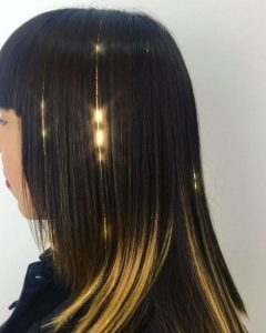 Two Tone Hair with Gold Extensions