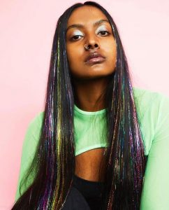 Youthful Rainbow Tinsel Hair Extensions