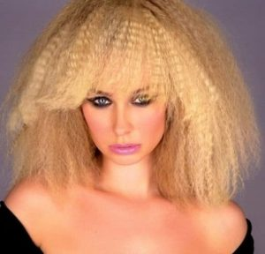 Crimped Lob with Bangs