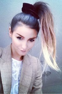 Ombre High Ponytail with Scrunchie