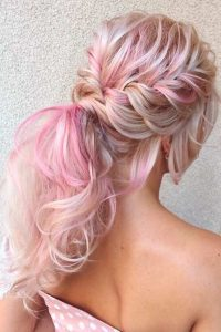 Double Rope Braids and Messy Ponytail