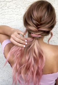 Loose French Braid and Low Ponytail