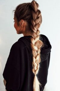 Relaxed French Braid Ponytail
