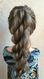 Twisted Rope Braid Ponytail