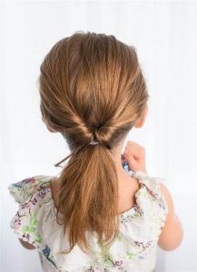 Cute Flipped Ponytail
