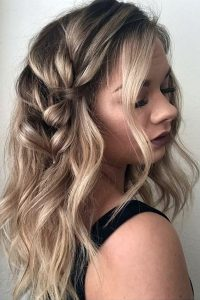 messy subtle side braid