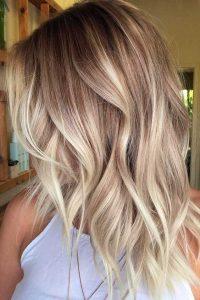 balayage blonde warm tone