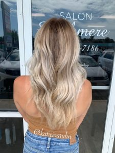 melted rooting blonde